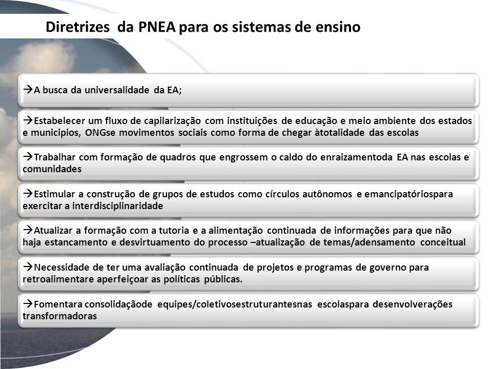 Diretrizes da PNEA para os sistemas de ensino