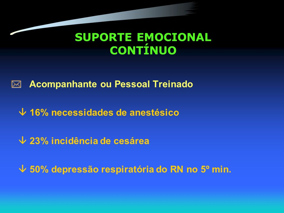 SUPORTE EMOCIONAL CONTÍNUO