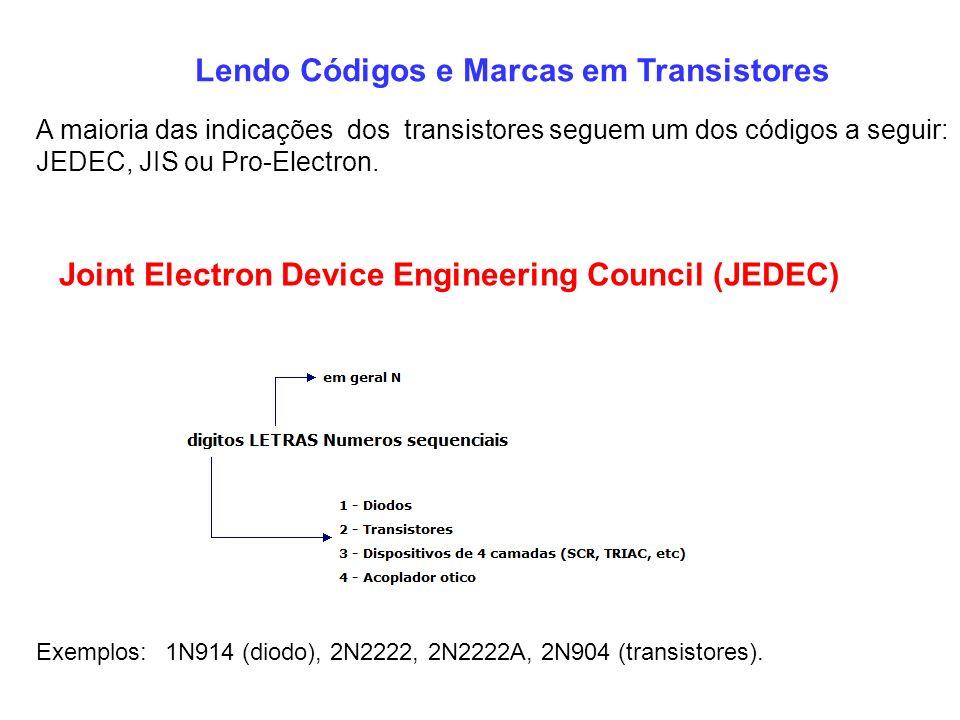 Lendo Códigos e Marcas em Transistores