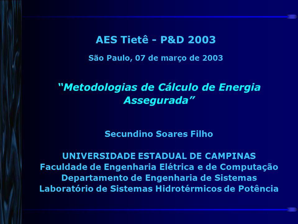 AES Tietê - P&D 2003 São Paulo, 07 de março de 2003