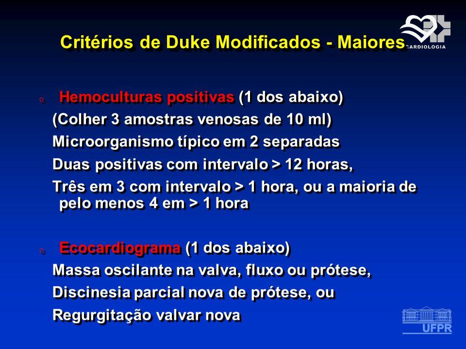 Critérios de Duke Modificados - Maiores