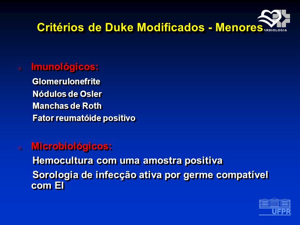 Critérios de Duke Modificados - Menores