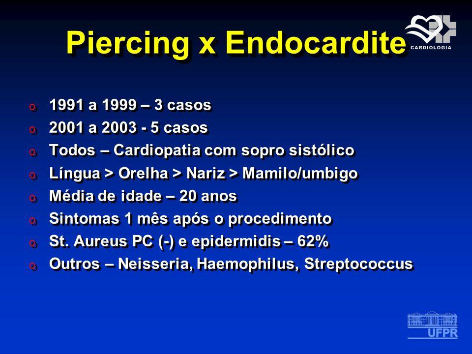 Piercing x Endocardite