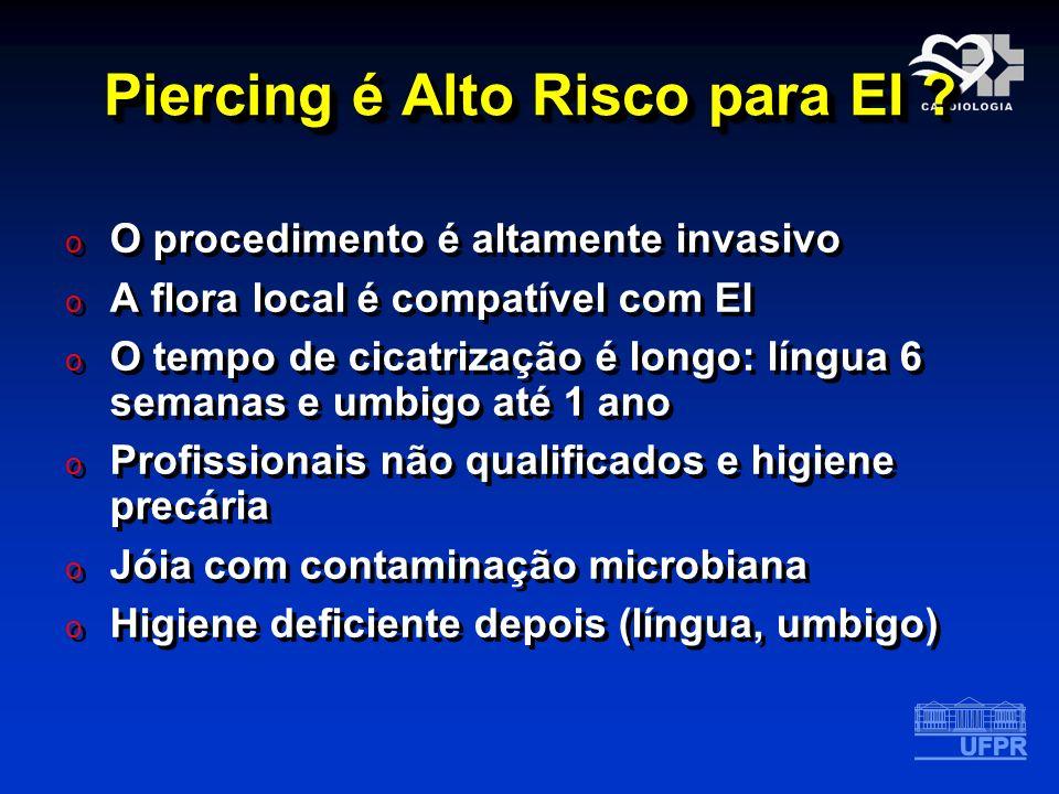Piercing é Alto Risco para EI