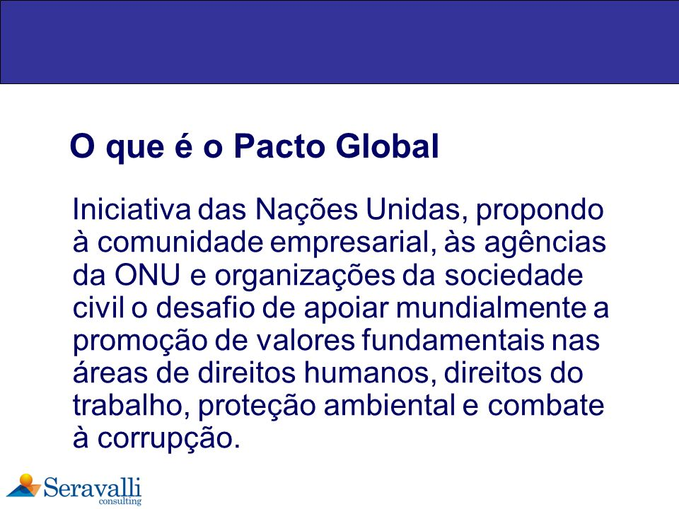 O que é o Pacto Global