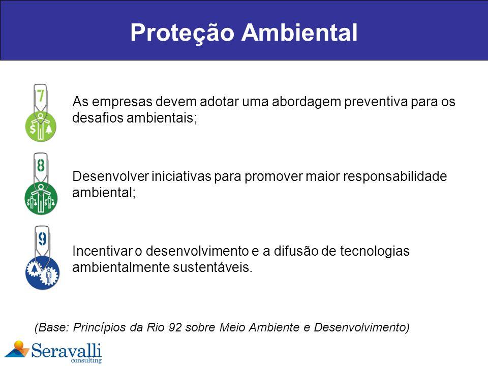 Proteção Ambiental As empresas devem adotar uma abordagem preventiva para os desafios ambientais;
