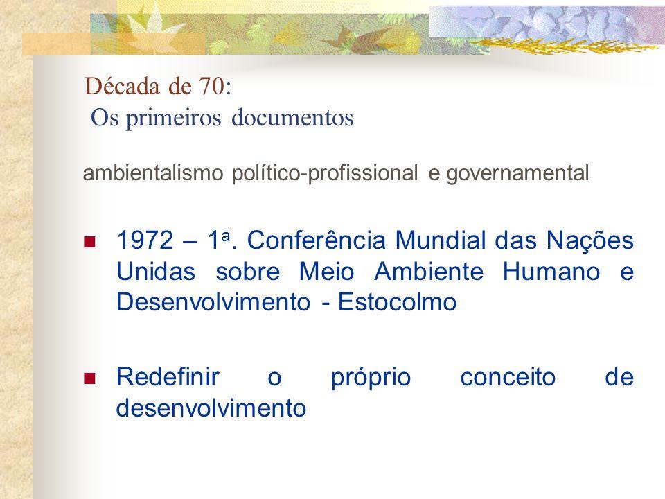 Década de 70: Os primeiros documentos