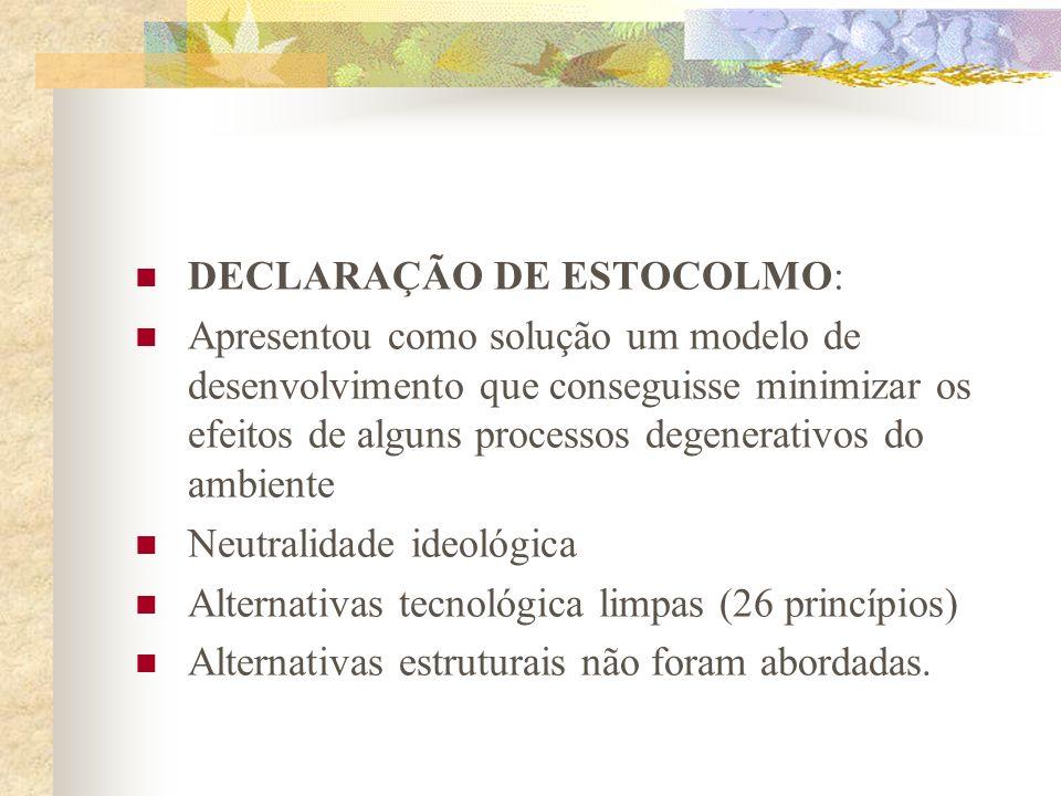 DECLARAÇÃO DE ESTOCOLMO: