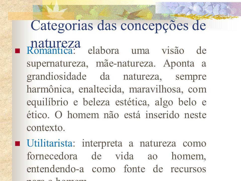 Categorias das concepções de natureza