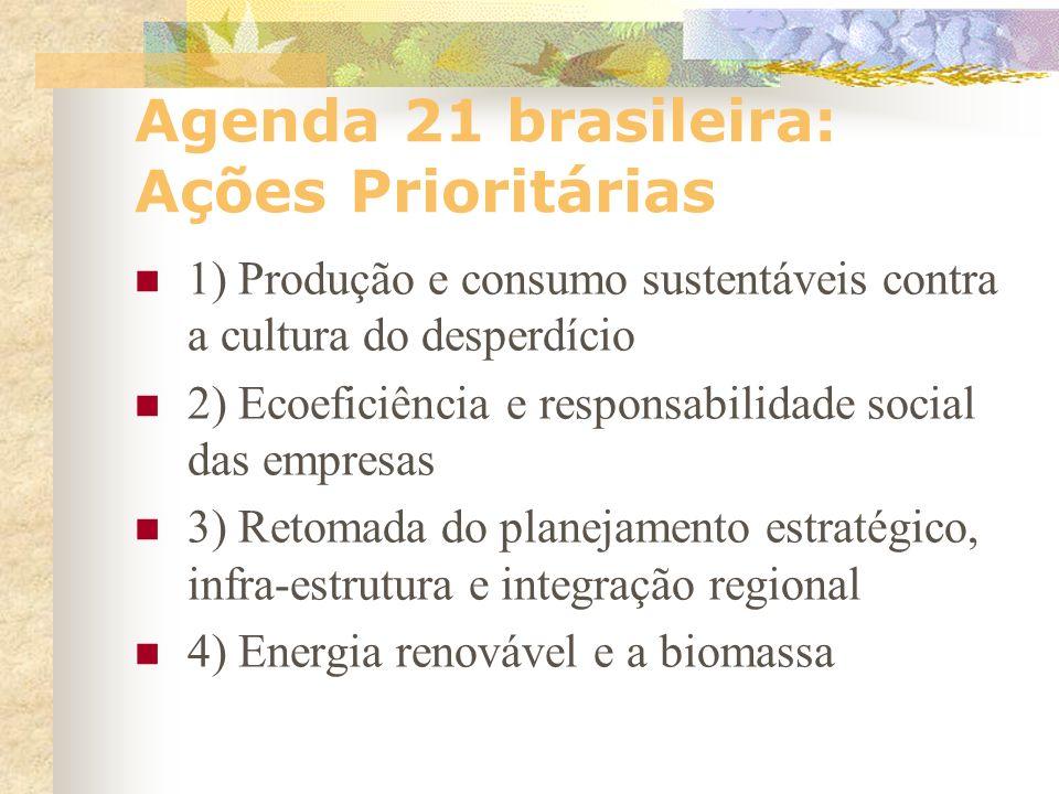 Agenda 21 brasileira: Ações Prioritárias