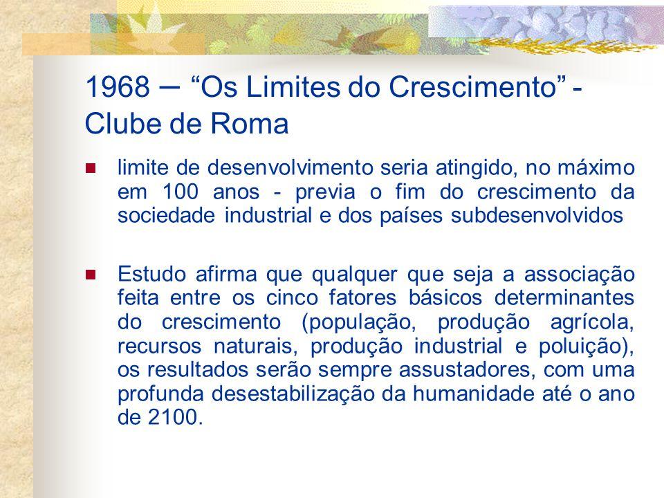 1968 – Os Limites do Crescimento - Clube de Roma