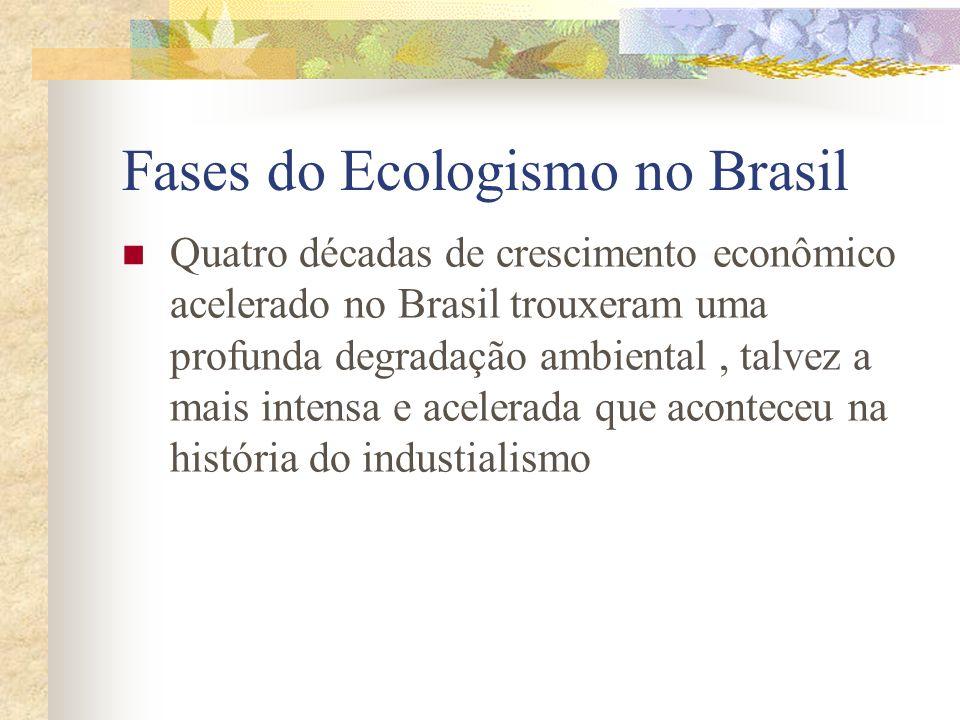 Fases do Ecologismo no Brasil