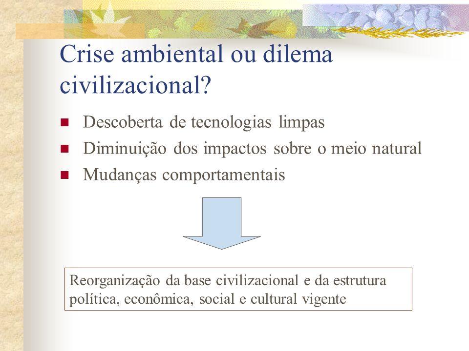 Crise ambiental ou dilema civilizacional
