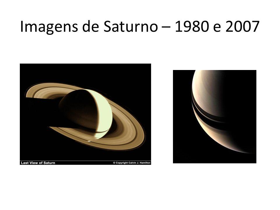 Imagens de Saturno – 1980 e 2007