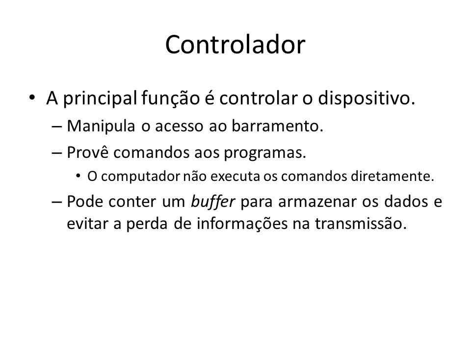 Controlador A principal função é controlar o dispositivo.