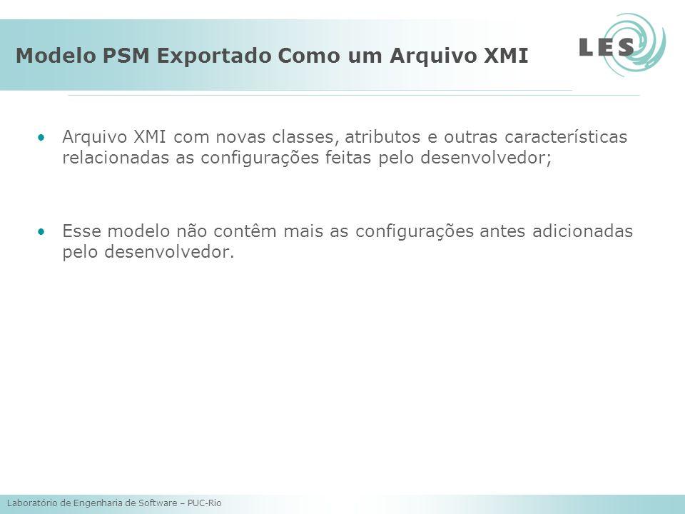 Modelo PSM Exportado Como um Arquivo XMI