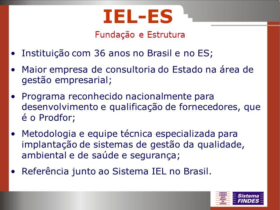 IEL-ES Instituição com 36 anos no Brasil e no ES;