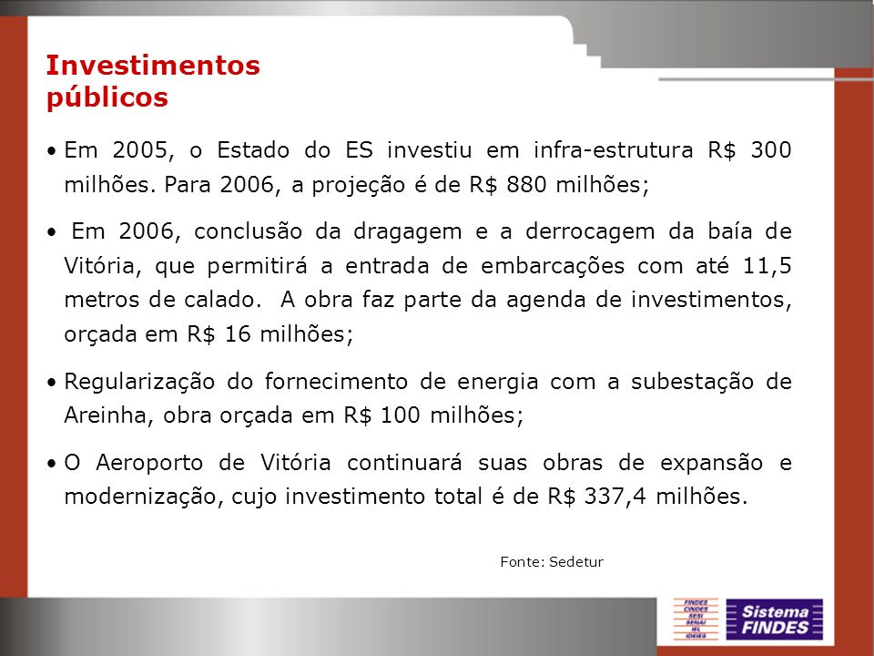 Investimentos públicos