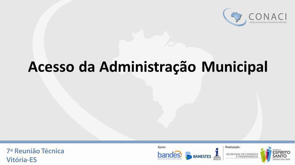 Acesso da Administração Municipal