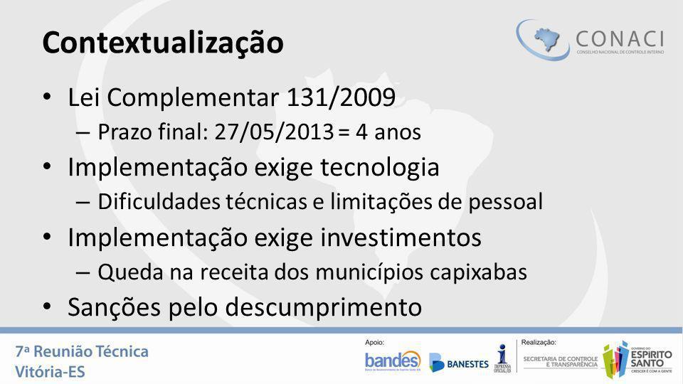 Contextualização Lei Complementar 131/2009