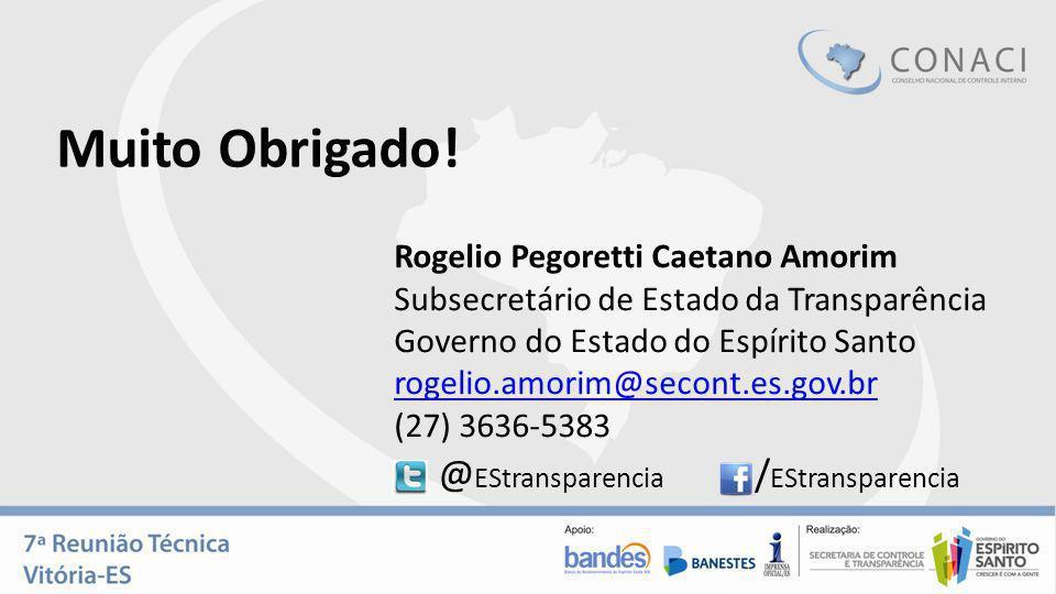 Muito Obrigado! @EStransparencia /EStransparencia