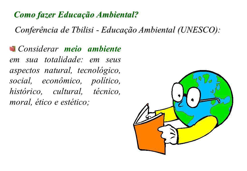 Conferência de Tbilisi - Educação Ambiental (UNESCO):