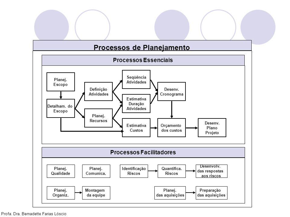 Processos de Planejamento Processos Facilitadores