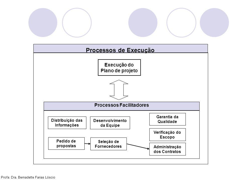 Processos de Execução Execução do Plano de projeto