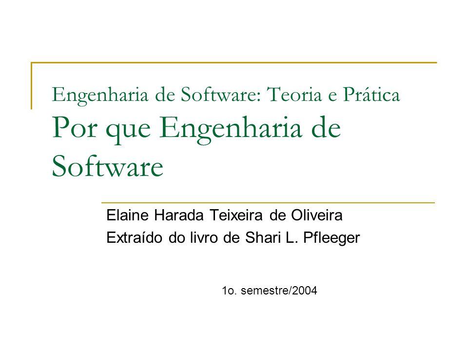 Engenharia de Software: Teoria e Prática Por que Engenharia de Software