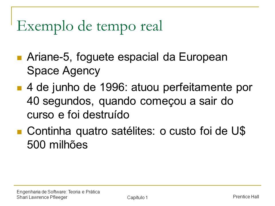 Exemplo de tempo real Ariane-5, foguete espacial da European Space Agency.