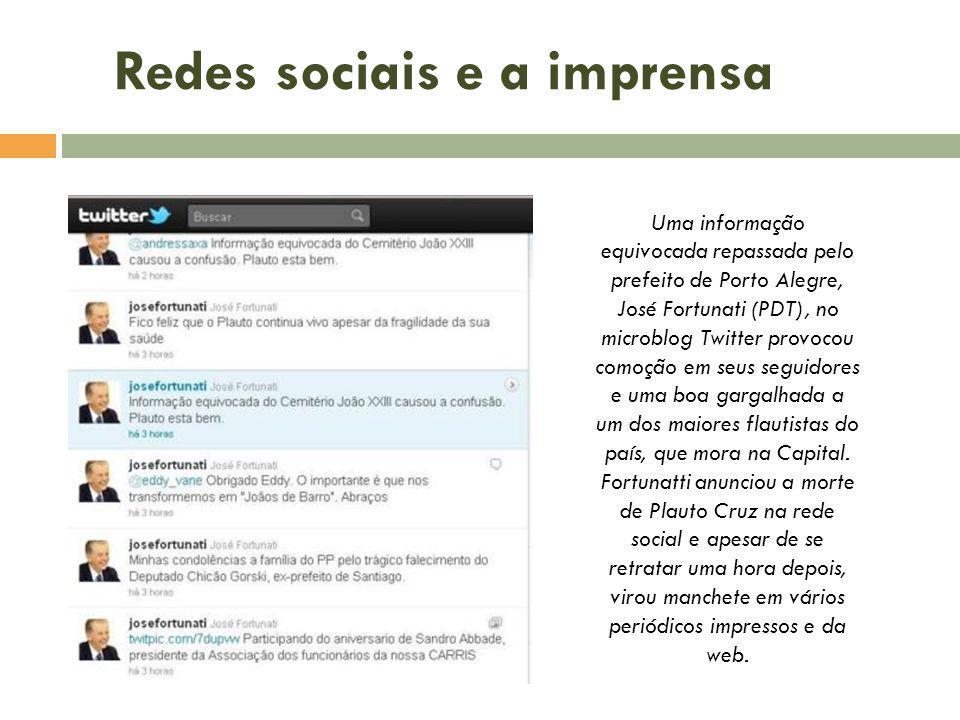 Redes sociais e a imprensa