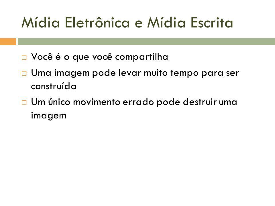 Mídia Eletrônica e Mídia Escrita