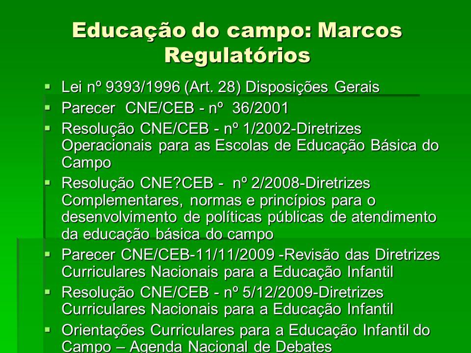 Educação do campo: Marcos Regulatórios