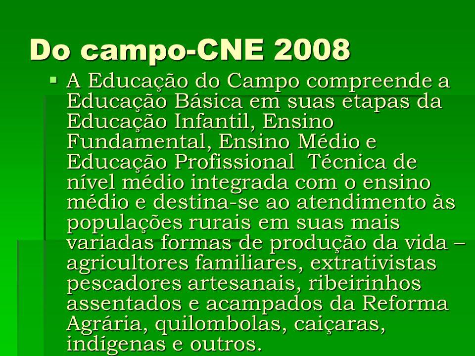 Do campo-CNE 2008