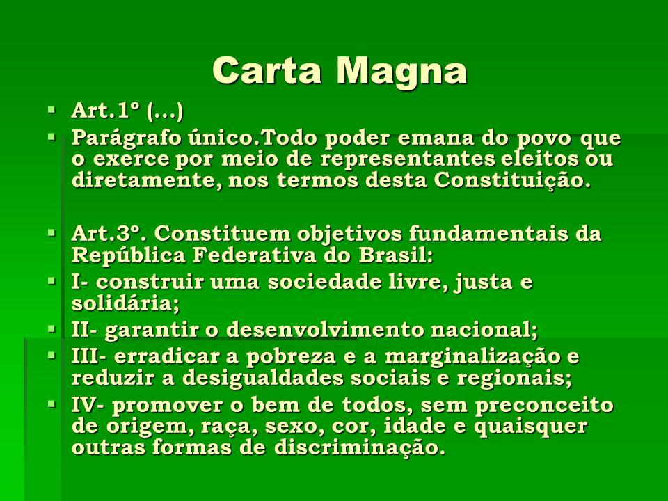 Carta Magna Art.1º (...)
