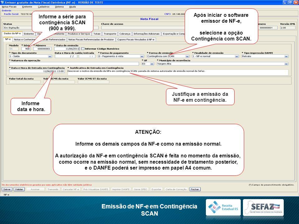 Emissão de NF-e em Contingência SCAN