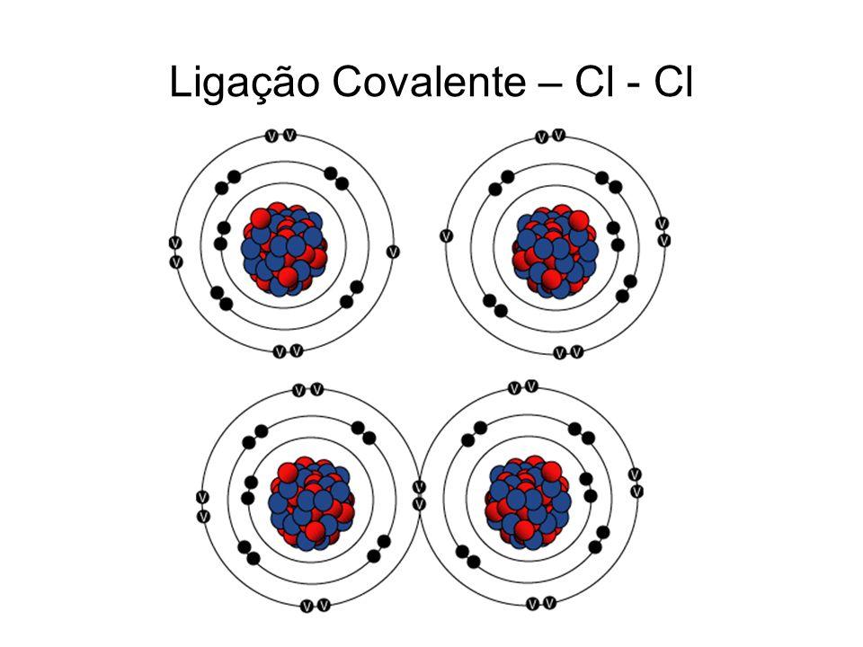 Ligação Covalente – Cl - Cl