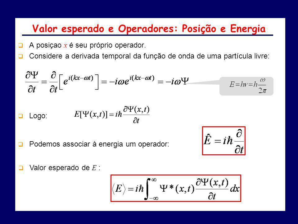 Valor esperado e Operadores: Posição e Energia