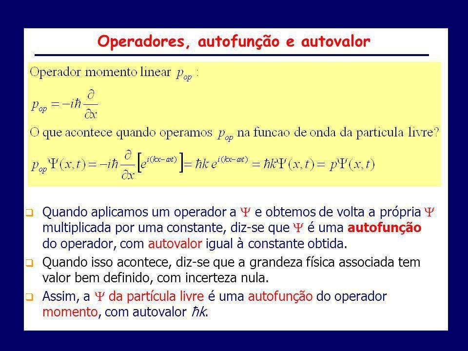 Operadores, autofunção e autovalor