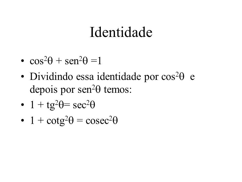 Identidade cos2 + sen2 =1