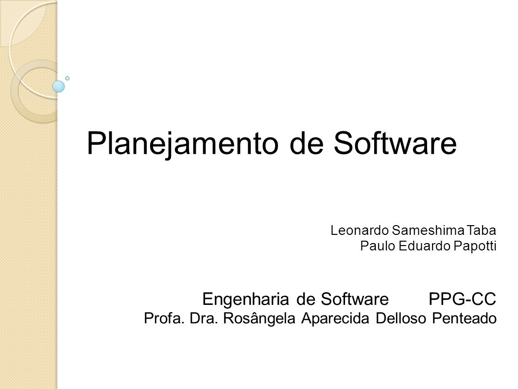 Planejamento de Software