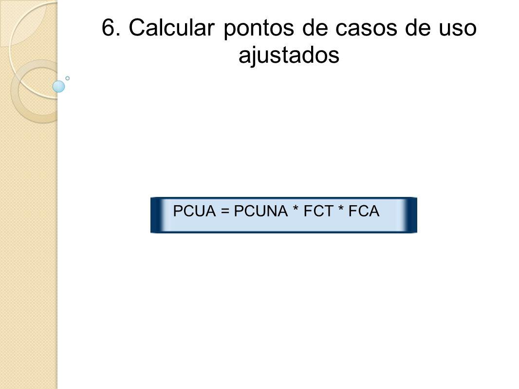 6. Calcular pontos de casos de uso ajustados