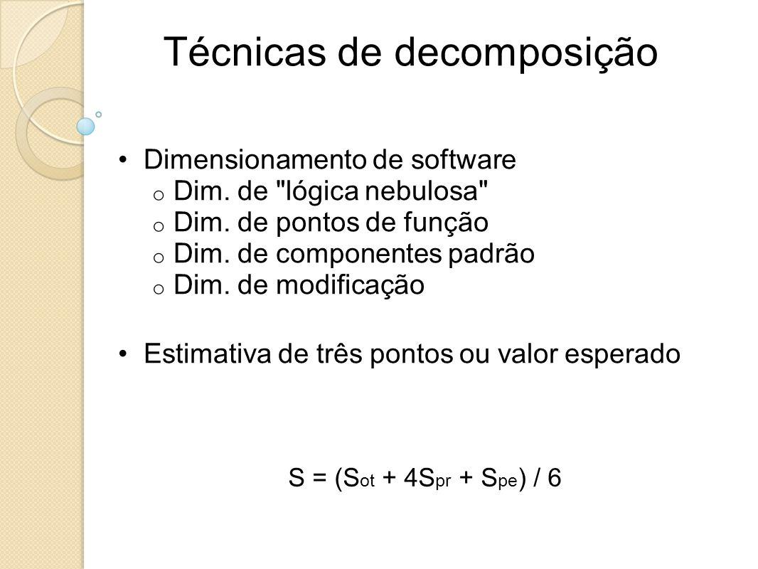 Técnicas de decomposição