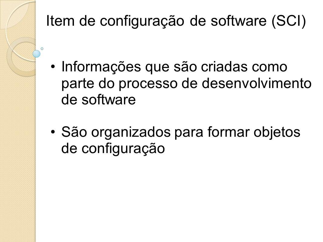 Item de configuração de software (SCI)