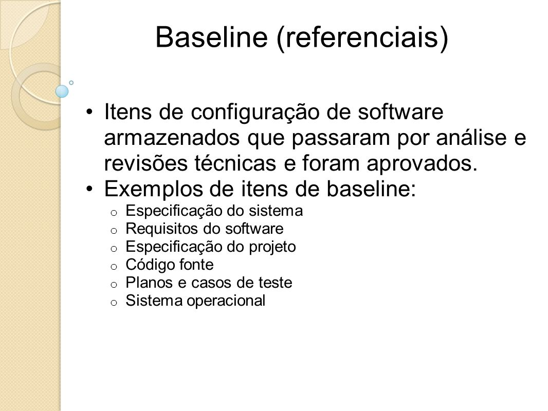 Baseline (referenciais)