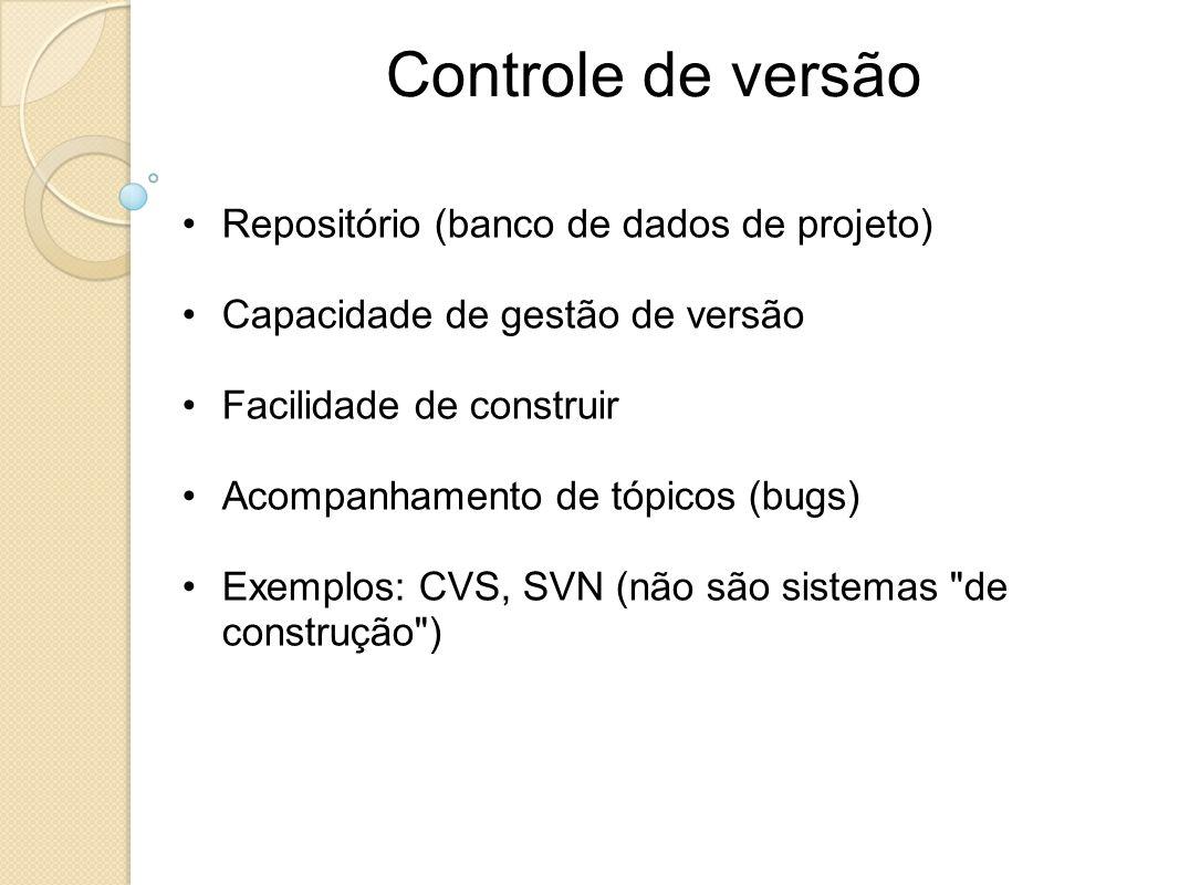 Controle de versão Repositório (banco de dados de projeto)