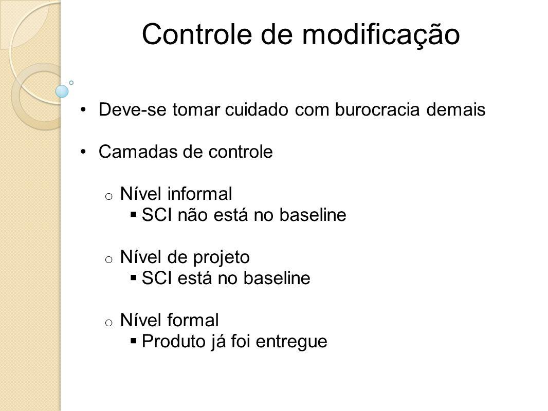 Controle de modificação