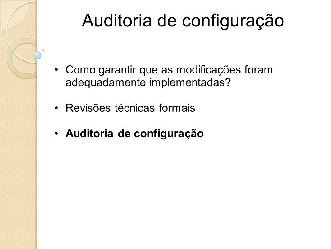 Auditoria de configuração