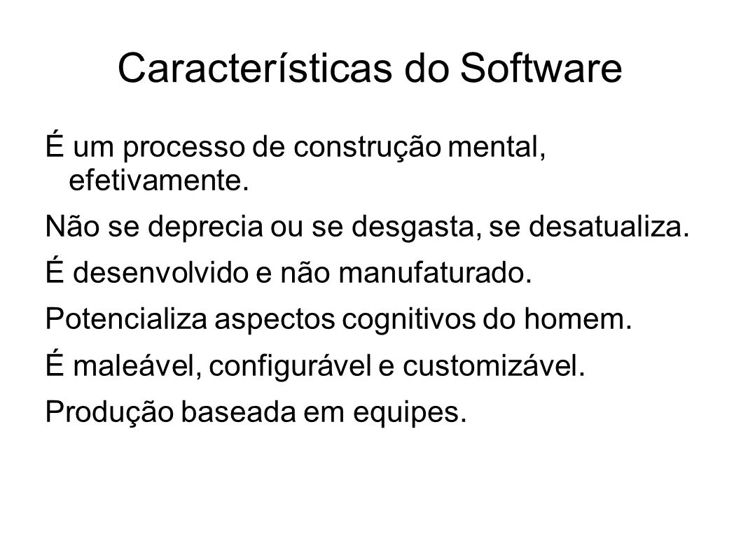 Características do Software