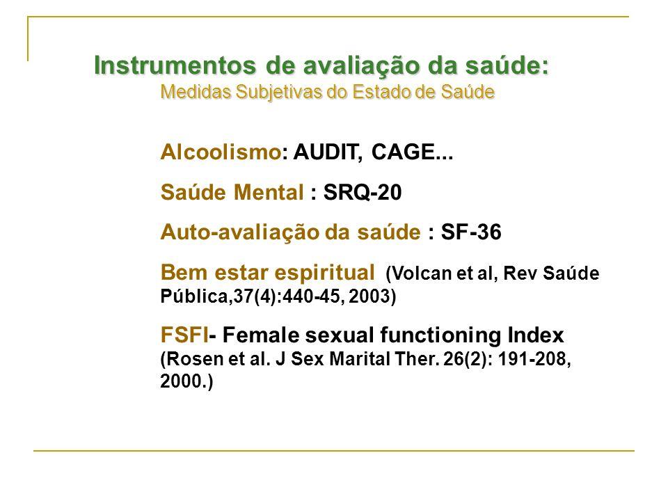 Instrumentos de avaliação da saúde:
